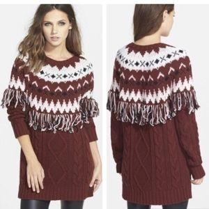 Glamorous Fringe Tunic Sweater Dress